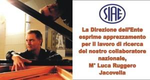 La SIAE e il M° Luca Ruggero Jacovella